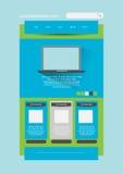 Molde à moda do Web site - disposição do portfólio Imagem de Stock Royalty Free