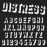 Molde áspero da fonte do alfabeto Imagem de Stock