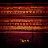 Molde étnico desenhado à mão abstrato do projeto, tribal Imagens de Stock
