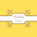 Molde 2 do cartão de casamento Foto de Stock Royalty Free