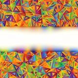 Molde abstrato colorido da bandeira. EPS 8 ilustração stock