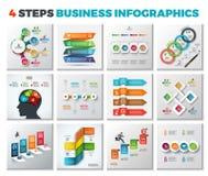 Molde abstrato das opções do número do infographics Foto de Stock