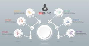 Molde abstrato das opções do número do infographics Ilustração do vetor pode ser usado para a disposição dos trabalhos, diagrama, Imagens de Stock