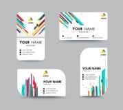 Molde abstrato do cartão com posição do nome da amostra cidade Imagem de Stock