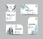 Molde abstrato do cartão com posição do nome da amostra cidade Imagens de Stock Royalty Free