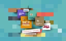 Molde abstrato do cartaz da venda da forma Fotos de Stock Royalty Free