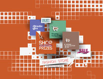 Molde abstrato do cartaz da venda da forma Foto de Stock Royalty Free