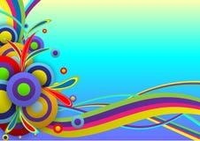 Molde abstrato do festival da cor do fundo Imagens de Stock Royalty Free
