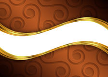 Molde abstrato do fundo de Brown e de ouro para o Web site, bandeira, cartão, convite Imagem de Stock