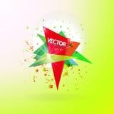 Molde abstrato do fundo do vetor com bandeira do triângulo Fotos de Stock Royalty Free