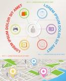 Molde abstrato do infographics com ícones ilustração stock