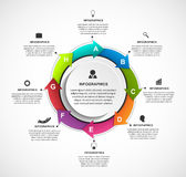 Molde abstrato do infographics das opções com setas em um círculo Infographics para a bandeira das apresentações ou da informação Imagem de Stock