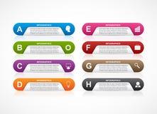 Molde abstrato do infographics das opções do negócio 3D Imagens de Stock Royalty Free
