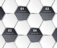 Molde abstrato do infographics do hexágono Elementos do projeto Imagem de Stock Royalty Free