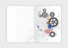 Molde abstrato do informe anual do fundo, tampa geométrica do folheto do negócio do projeto do triângulo Imagem de Stock