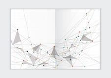Molde abstrato do informe anual do fundo, tampa geométrica do folheto do negócio do projeto do triângulo Foto de Stock Royalty Free