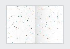 Molde abstrato do informe anual do fundo, tampa geométrica do folheto do negócio do projeto do triângulo Fotos de Stock Royalty Free