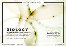 Molde abstrato do inseto da biologia do vetor ilustração stock
