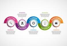 Molde abstrato do projeto do infographics das opções Imagens de Stock
