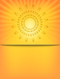 Molde abstrato do teste padrão do Sunburst de Sun Imagens de Stock Royalty Free