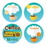 Molde ajustado do ícone do café Fotografia de Stock
