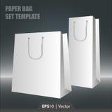 Molde ajustado do saco de papel para a Web ou a cópia ilustração stock