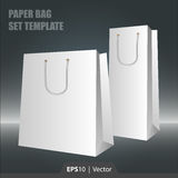 Molde ajustado do saco de papel para a Web ou a cópia Fotografia de Stock Royalty Free