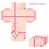 Molde atual da caixa com fita e corações ilustração royalty free