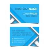 Molde azul do cartão criativo moderno em um estilo material do projeto Ilustração do vetor Fotografia de Stock Royalty Free