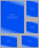 Molde azul do projeto do canto da página do mosaico Ilustração Royalty Free