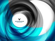 Molde azul do projeto moderno do sumário do redemoinho ilustração stock