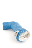 Molde azul rejeitado do braço da fibra de vidro Fotos de Stock Royalty Free