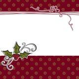 Molde bonito do cart?o do Natal ilustração royalty free