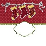 Molde bonito do cart?o do Natal ilustração stock