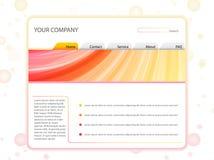 Molde branco da disposição do Web site Imagens de Stock