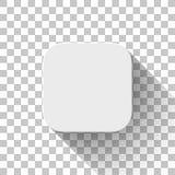 Molde branco da placa do ícone do App da tecnologia Fotos de Stock Royalty Free
