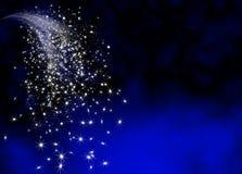 Molde brilhante e brilhando abstrato da cauda da estrela de queda Fotos de Stock Royalty Free