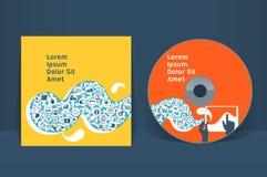 Molde CD do projeto da tampa Foto de Stock Royalty Free