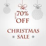 Molde cinzento da venda do Natal Foto de Stock