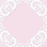 Molde clássico do convite do casamento com l branco Fotografia de Stock Royalty Free