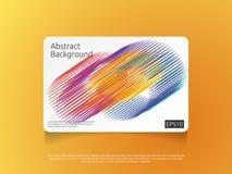 molde colorido abstrato do cartão ou de tampa com ilustração do vetor do fundo do conceito de projeto da composição da forma do i Fotos de Stock Royalty Free