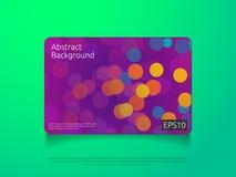 molde colorido abstrato do cartão ou de tampa com ilustração do vetor do fundo do conceito de projeto da composição da forma do i Foto de Stock