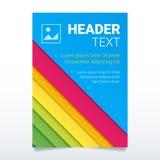 Molde colorido criativo do vetor do inseto no tamanho A4 Cartaz moderno, molde do negócio do folheto, tampa do relatório Imagens de Stock Royalty Free
