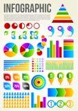 Molde colorido de Infographic ilustração stock