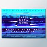 Molde colorido do cartaz do fundo do projeto do pulso aleatório Imagens de Stock Royalty Free