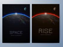 Molde colorido do projeto a4 do folheto Vetor Imagens de Stock