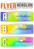 Molde colorido do vetor do projeto do inseto do folheto do Lo-polígono abstrato no tamanho A4 Imagens de Stock