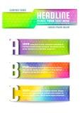 Molde colorido do vetor do projeto do inseto do folheto do triângulo abstrato Foto de Stock