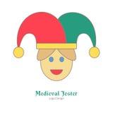 Molde colorido medieval do emblema do logotipo, estilo liso ilustração royalty free