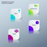 Molde colorido moderno do infographics do negócio do sucesso com ícones e elementos Pode ser usado para a disposição dos trabalho Imagem de Stock